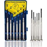 6Pcs Mini Screwdriver Set, Eyeglass Repair Screwdriver, Precision Repair Tool Kit with 6 Different Size Flathead and…