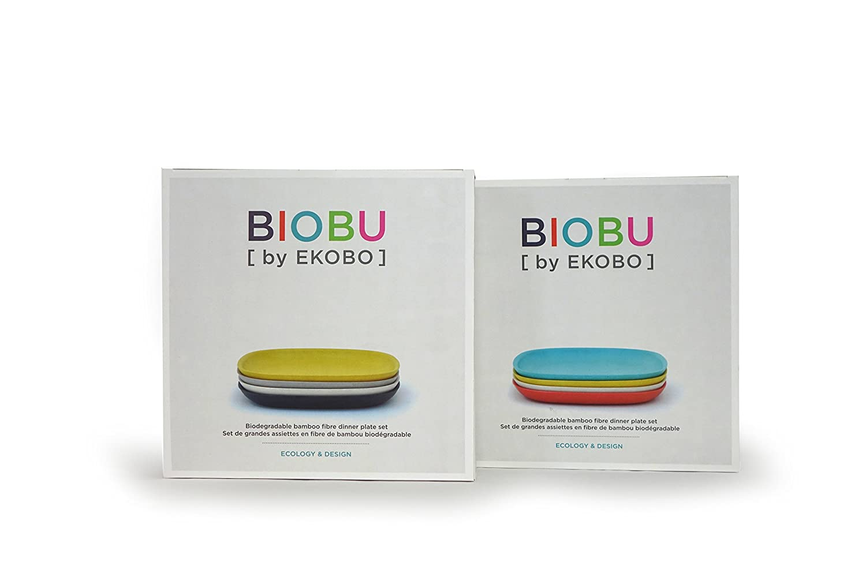Gris Ekobo 34291 Biobu Nr 1 Color Negro Blanco y Amarillo Juego de Desayuno