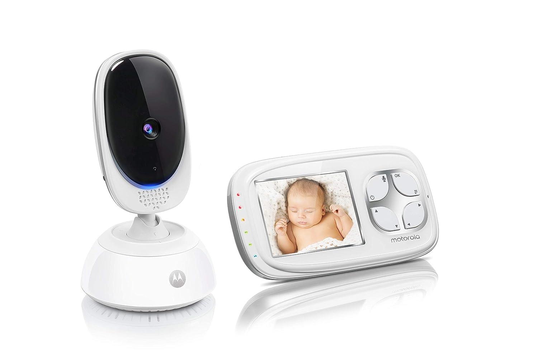 Blanc Vision Nocturne Motorola Comfort C35 /Éco-Mode Babyphone Vid/éo avec /Écran 2.8 Capteur de la Temp/érature Ambiante
