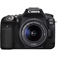 Canon EOS 90D Digital Camera 18-55 is STM Lens, Black