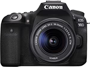 Canon 90D Digital SLR Camera with 18-55 IS STM Lens - Black