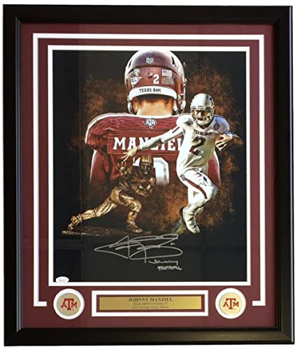 8632261cc71 Image Unavailable. Image not available for. Color  Johnny Manziel Signed  Framed 16x20 Texas A M Heisman Collage Photo Johhny Football Inscribed JSA