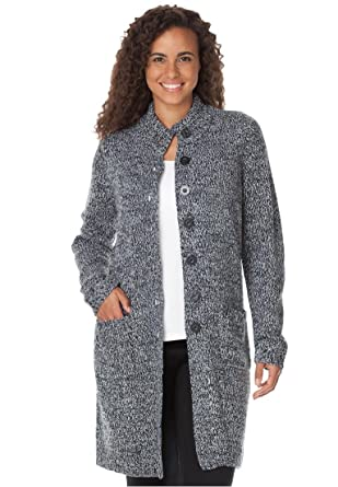 Women's Plus Size Sweater, Marled Cardigan Jacket at Amazon ...