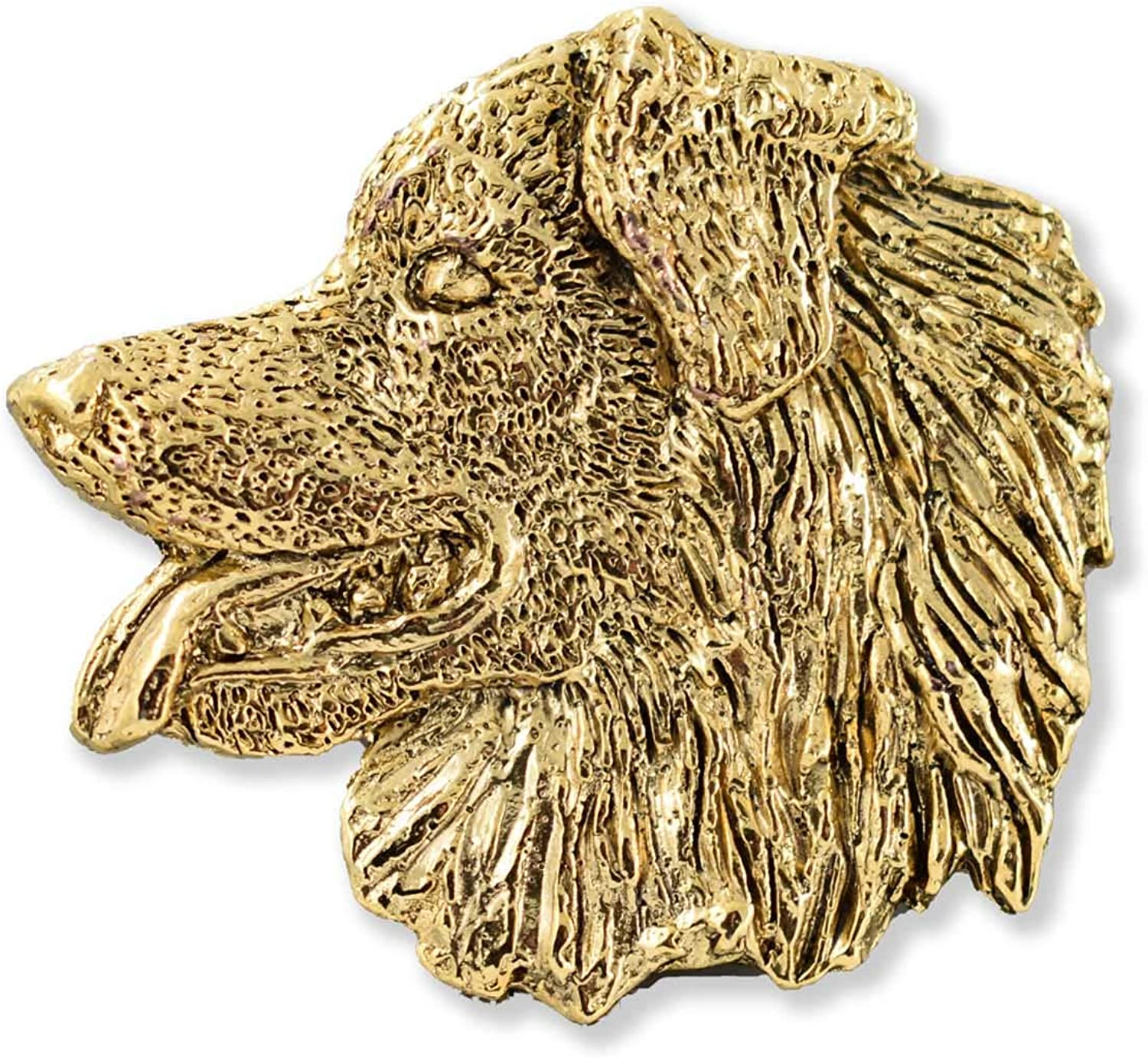 Realistic Lead Free Antique Pewter All Pet Breeds Made in USA Brooch Dog Lapel Pin