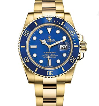 rolex submariner yellow gold blue ceramic 116618 boxpapers
