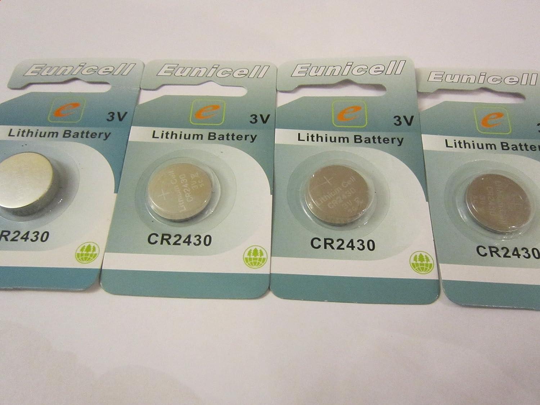 4 Pcs CR2430 / DL2430 / ECR2430 / LM2430 / KCR2430 3V Eunicell Lithium Battery Batteries