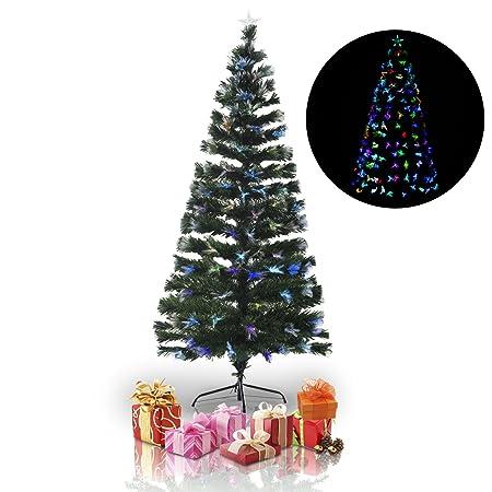 7c39cd4247df HOMCOM 3ft 5ft 6ft Optical Fiber Artificial Christmas Tree Xmas Colorful  LED Scattered Light Tree (6ft(180cm)): Amazon.co.uk: Kitchen & Home