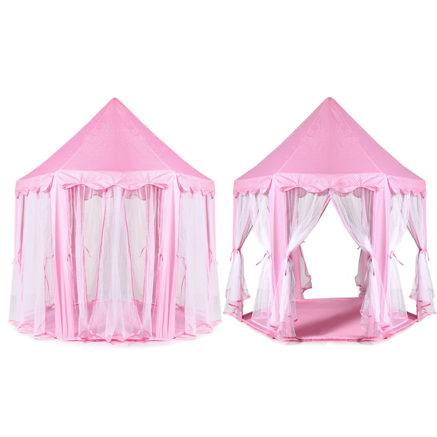 Amazon.com ODOLAND Princess Castle Tent u2013 Large Space Children Play Tent for Kids Indoor u0026 Outdoor Pink Playhouse u2013 Perfect Gift for Kids with Carrying ...  sc 1 st  Amazon.com & Amazon.com: ODOLAND Princess Castle Tent u2013 Large Space Children ...