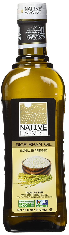 Native Harvest Non-GMO Rice Bran Oil 473ml (16 fl.oz)