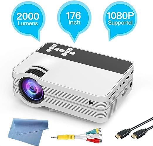 Proyector, hogar Mini proyector Portable de HD, Elegante Oficina ...