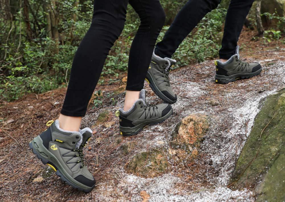 HYLFF damen Männer Wanderschuhe Wanderschuhe Trekking Winter Fur LinienSnow Stiefel Stiefel Stiefel für Damen Warm Ankle Running Trainer Unisex Outdoor Turnschuhe a92077