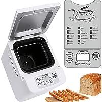 Melissa 16260010 Brotbackautomat mit vollautomatischer Teig- und Brotzubereitung, Backautomat für Brot- Konfitüre-Yoghurt-Pizza Teig,Brotback-Automat mit Timer,500 Watt, 19 Programme weiß 24