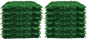 "24pcs Boxwood Panels - 20""x20"" Artificial Faux Hedge Plant for 66 SQ Feet Per Boxwood Hedge Set - Use for UV Protection Indoor Outdoor, Fence Privacy Screen, Grass Wall, Greenery Backdrop, Dark Green"