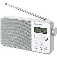 ソニー SONY ラジオ XDR-55TV : FM/AM/ワンセグTV音声対応 おやすみタイマー搭載 乾電池対応 ホワイト XDR-55TV W
