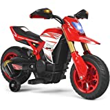 Costzon Kids Ride on Motorcycle, Battery Powered Motor Bike w/ Training Wheels, LED Lights, Forward Button, Anti-Slip…