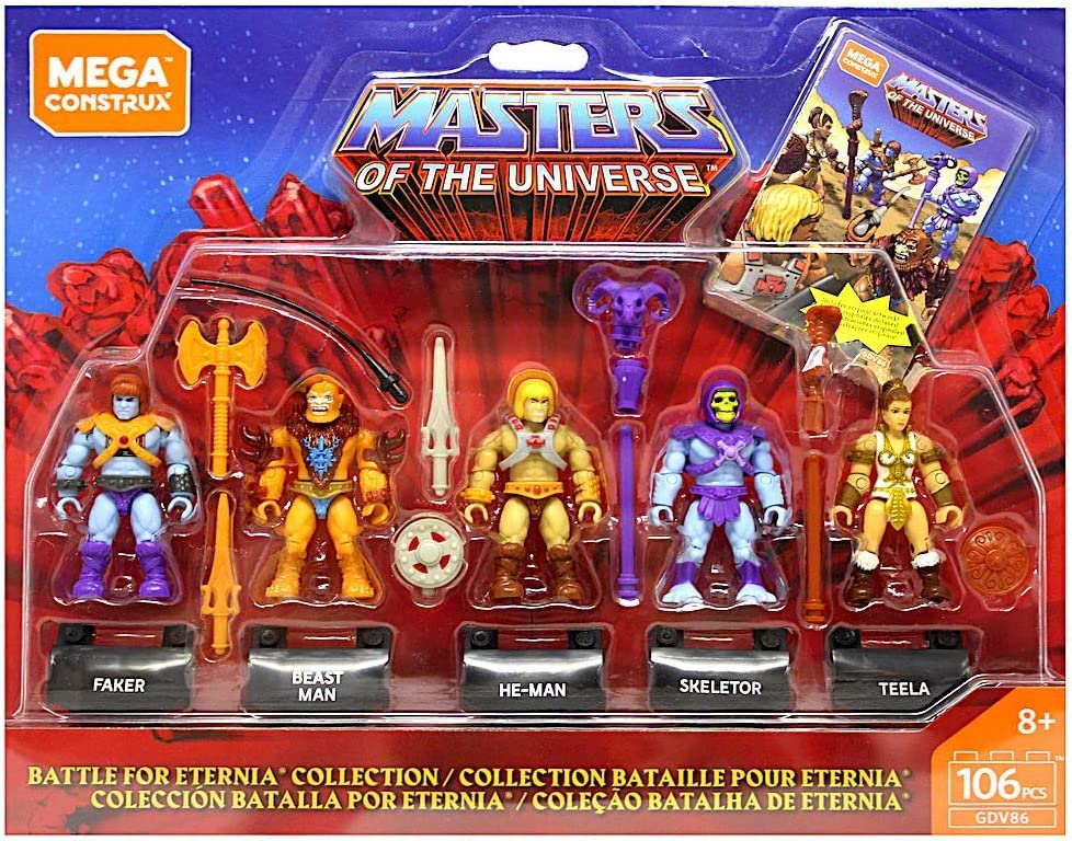 Mega CONSTRUX Heroes Battle of Eternia Collection Masters of the Universe Hero Pack