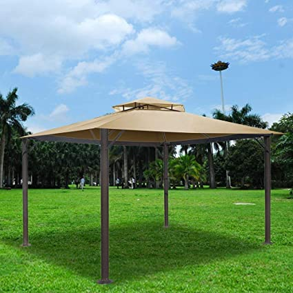 13x11/' Gazebo Top Replacement Canopy Cover For Sunjoy L-GZ339PAL Water Resistant