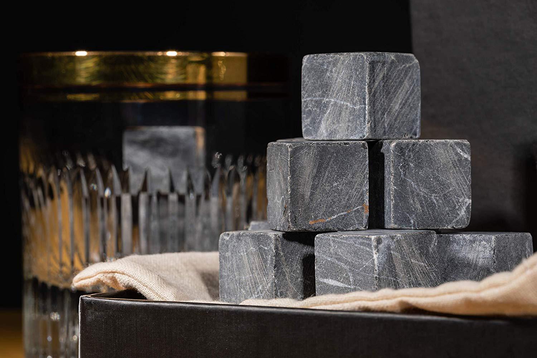 Original Spirits Club - 9 piedras de whisky de mármol, cubos para ...