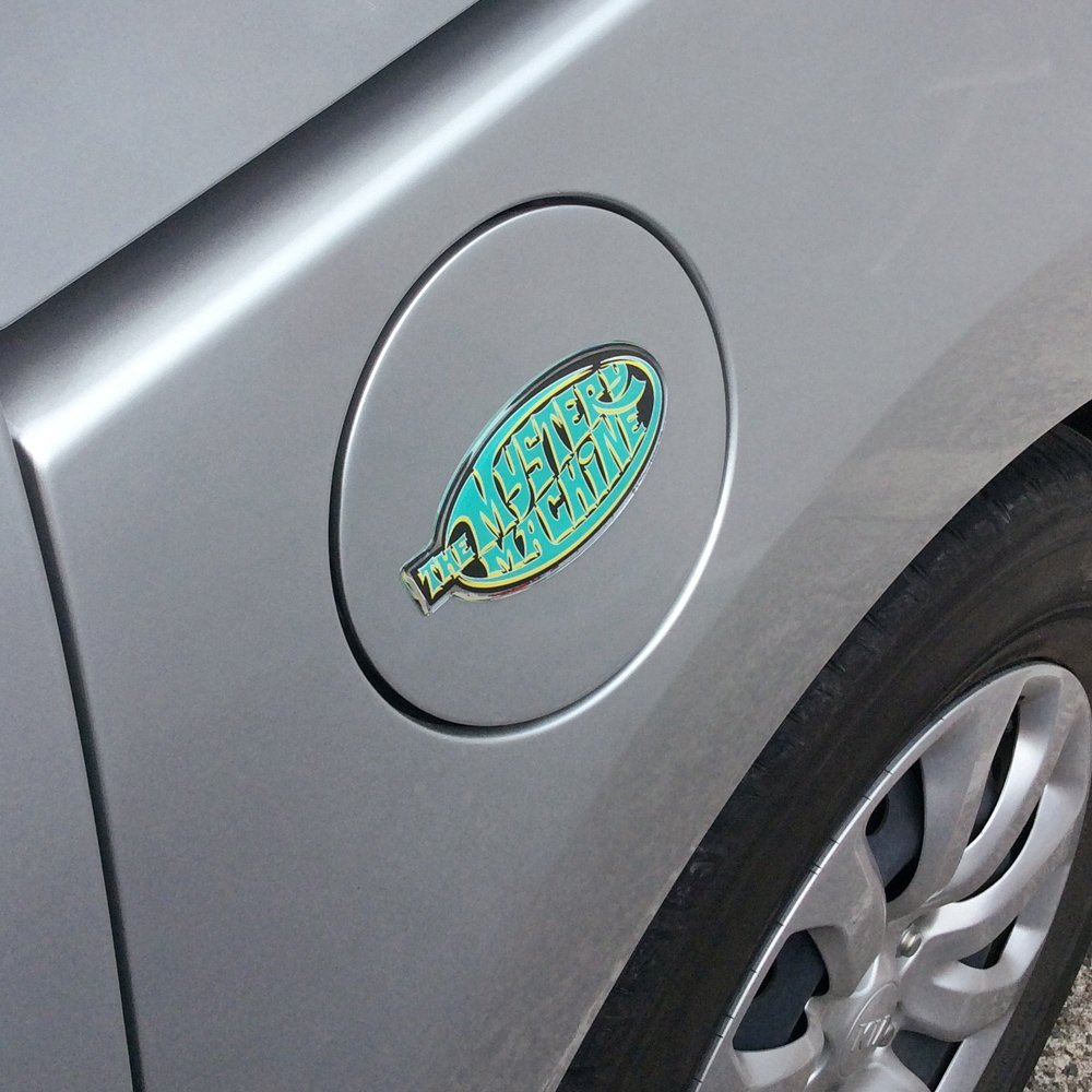 Laptops Scooby Doo Automotive Sticker Decal Badge Easily Applies to Cars Almost Anything LNI Australia 9672-101 Fan Emblems Mystery Machine Logo Car Decal Domed//Multicolor//Chrome Finish Motorcycles Cellphones Trucks