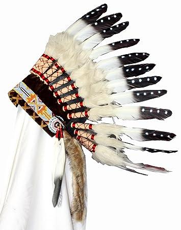 Hejoka Shop Kinder Indianer Kopfschmuck Federhaube Farbige