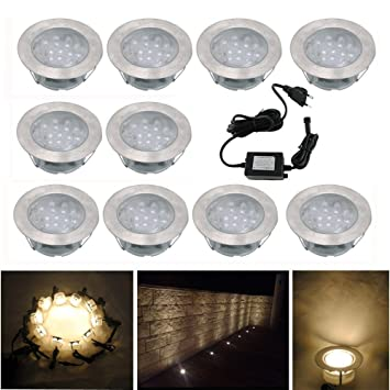 10x Lampe de Spot Encastrable LED pour Terrasse Enterre Plafonnier ...