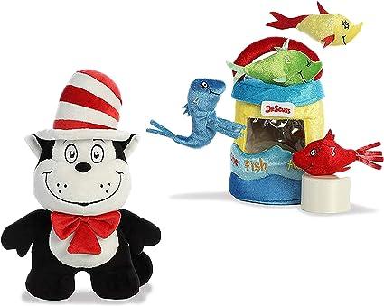 "Seuss Fish Playset Plush Toy Animal Fun Play 4/"" Plush Fish Dr"