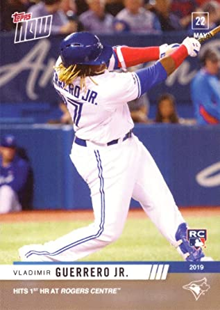 Only 2,197 made! Rookie Card Hits 1st Home Run at Home Ballpark 2019 Topps Now Baseball #262 Vladimir Guerrero Jr