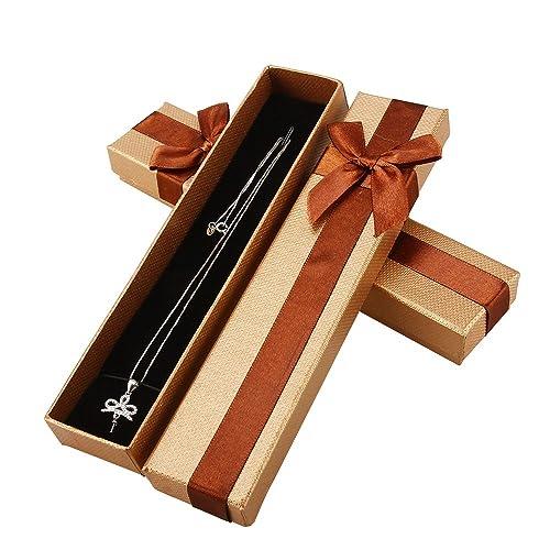 Al por mayor una bolsa de joyas caja regalo con Brwon caja con 16 piezas: Amazon.es: Joyería