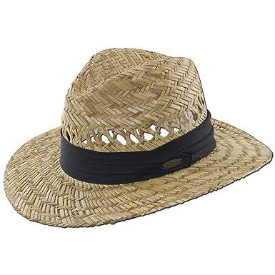 "6a357236 Panama Jack Safari Straw Hat - Lightweight, 3"" Big Brim, Inner Elastic  Sweatband"