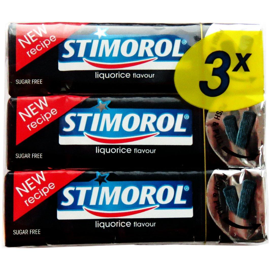 STIMOROL Chewing Gum: Licorice ( Pack of 3 )