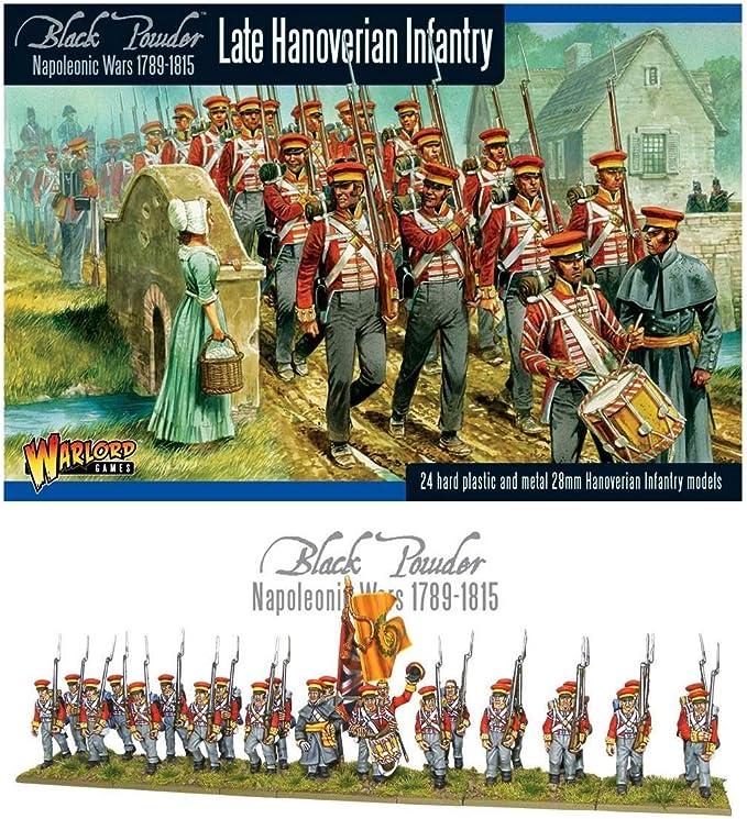 Guerras Napole/ónicas Infanter/ía De Hannover 28mm Juegos De Warlord WAR-WGN-BR-13 Polvo Negro