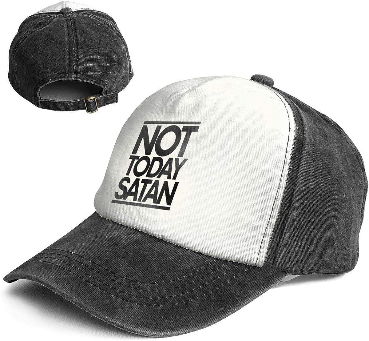Fashion Vintage Hat Not Today Satan Adjustable Dad Hat Baseball Cowboy Cap