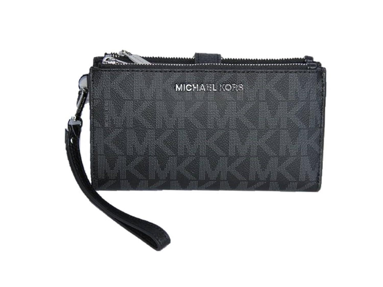 28609f45495f87 Michael Kors Jet Set Travel Double Zip Wristlet - Black: Amazon.in:  Clothing & Accessories