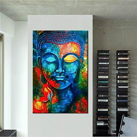 kanhaonio Sin Marco Zen Buddha Head Club decoración Pintura ...
