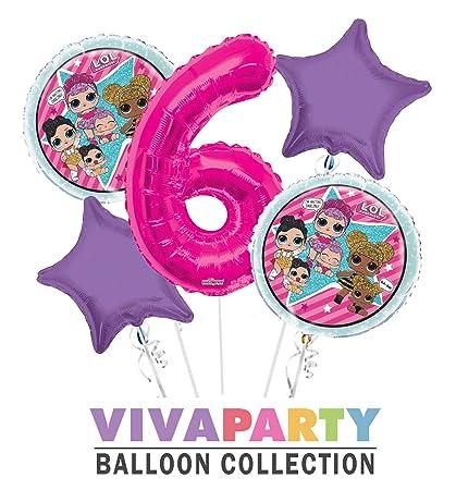 Amazon.com: LOL - Ramo redondo de globo de 5 piezas, 6 ...