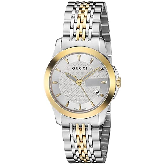 5abc3579fa2 Gucci Swiss Quartz Stainless Steel Dress Two-Tone Women s Watch(Model   YA126511-N)  Amazon.ca  Watches
