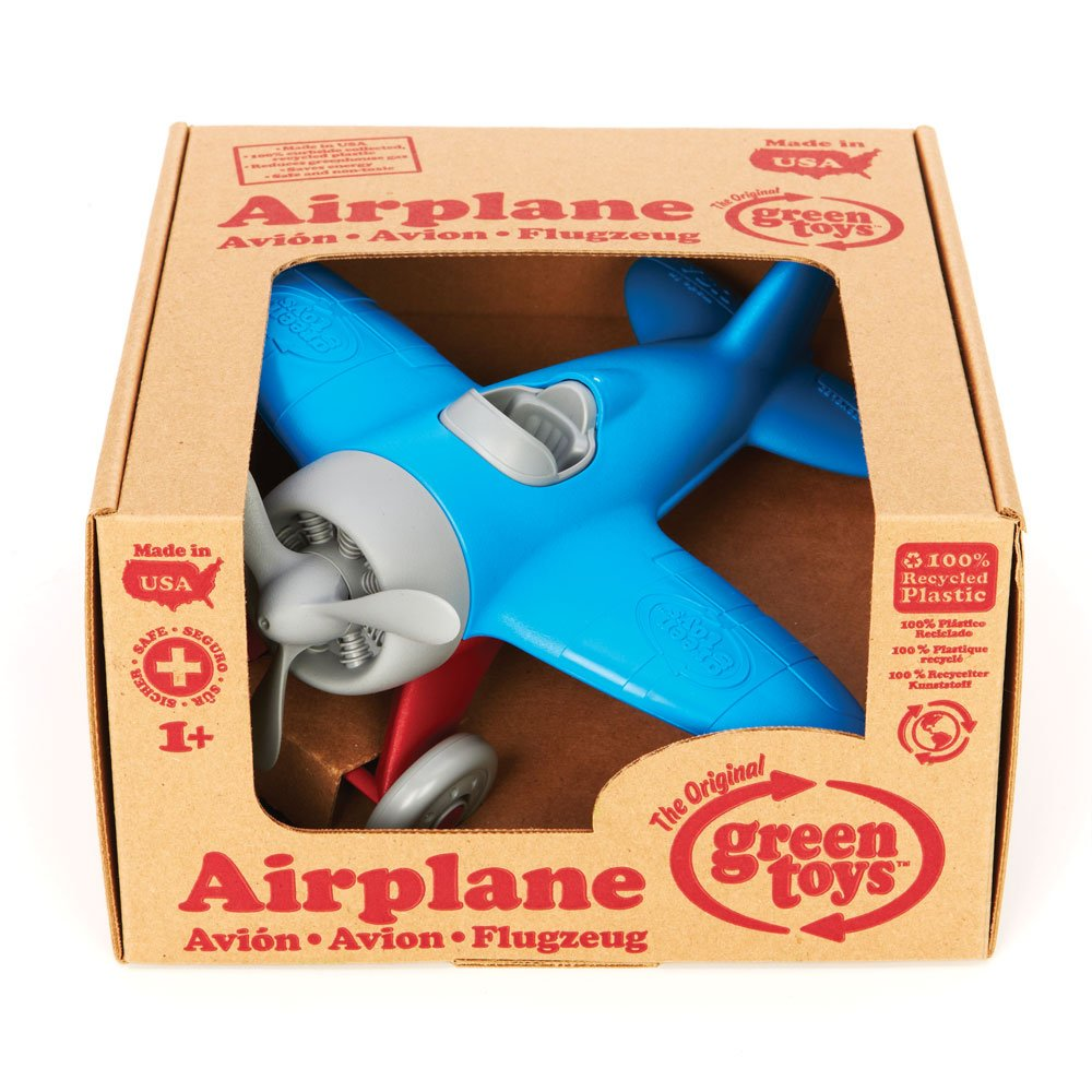 Green Toys Airplane - BPA, Phthalates Free, Blue Air Transport Toy for Introducing Aeronautical Knowledge, Improving Grasping Power. Toy Vehicles by Green Toys (Image #3)
