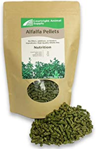 Courtright Animal Supply Alfalfa Pellets for Rabbits, Guinea Pigs, and Other Small Pets (3Lbs)