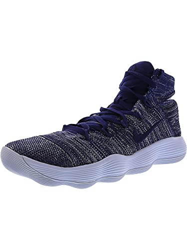 80fffdbe291e Nike Men s Hyperdunk 2017 Flyknit College Navy Deep Royal Blue Ankle-High  Fabric Basketball