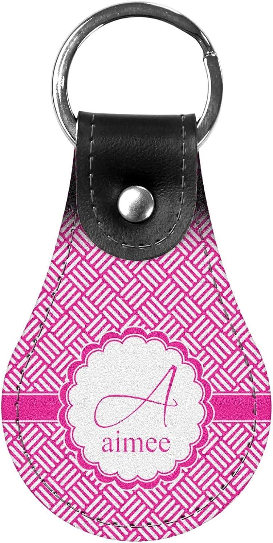 Personalized Hashtag Genuine Leather Keychain