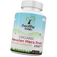 Organic Maca Capsules - High Strength 2500mg per Capsule - Increase Vitality with Pure Maca Root Powder Capsules by TheHealthyTree Company