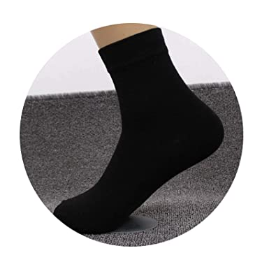 5 Pairs Mens Cotton Socks Plus Large Socks Calcetines Socks,A black