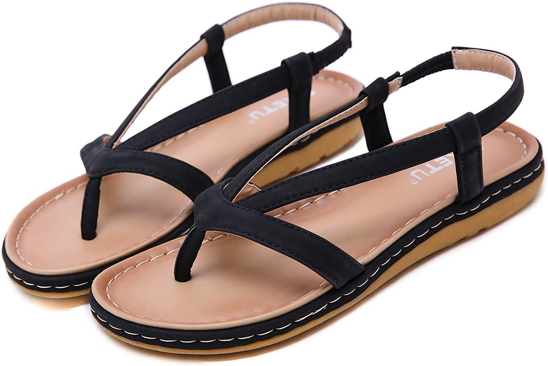 Womens Granola Fisherman Sandal Womens Flat Gladiator Sandals Ankle Wrap Strappy Thong Flip Flops Sandal Elegant Womens Fashion Braided Criss Cross Straps Gladiator Flat Sandals