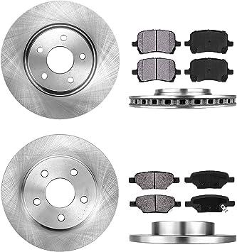 2007-2013 Mazda Speed 3 Rotors w//Metallic Pad OE Brakes Front + Rear