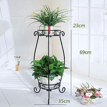 Support de fleur en métal Etagère de jardin pour plantes escalier en ...