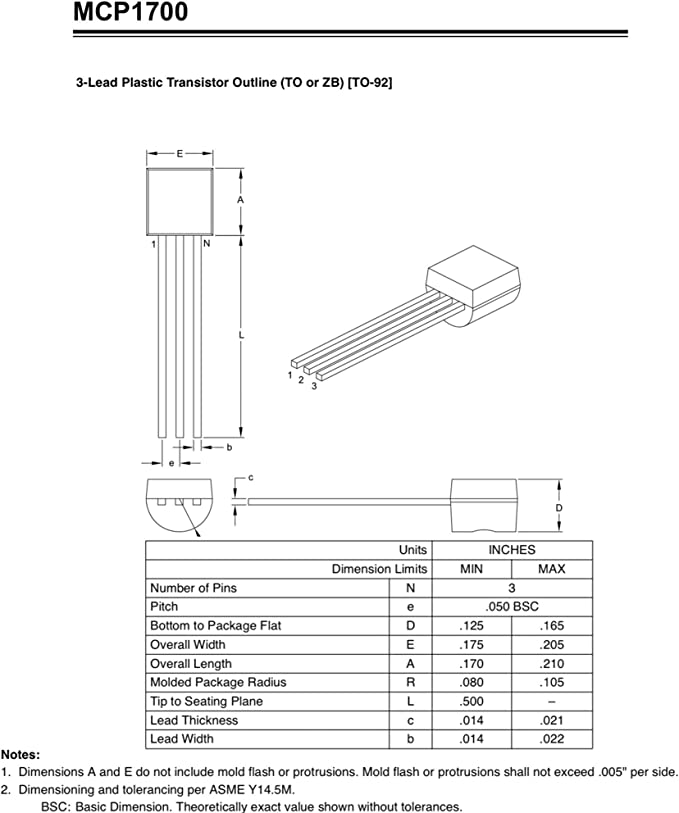 linéaire régulateur de tension LDO MCP1826S-3302E//AB IC fixe 3.3 V 1 A TO220 THT Micro
