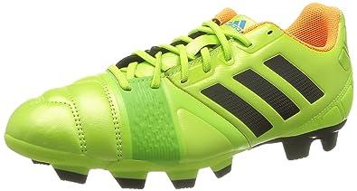 adidas Performance–Zapatillas de Fútbol, Hombre, Nitrocharge 3.0 TRX FG, Neongrün/Orange, 39.5