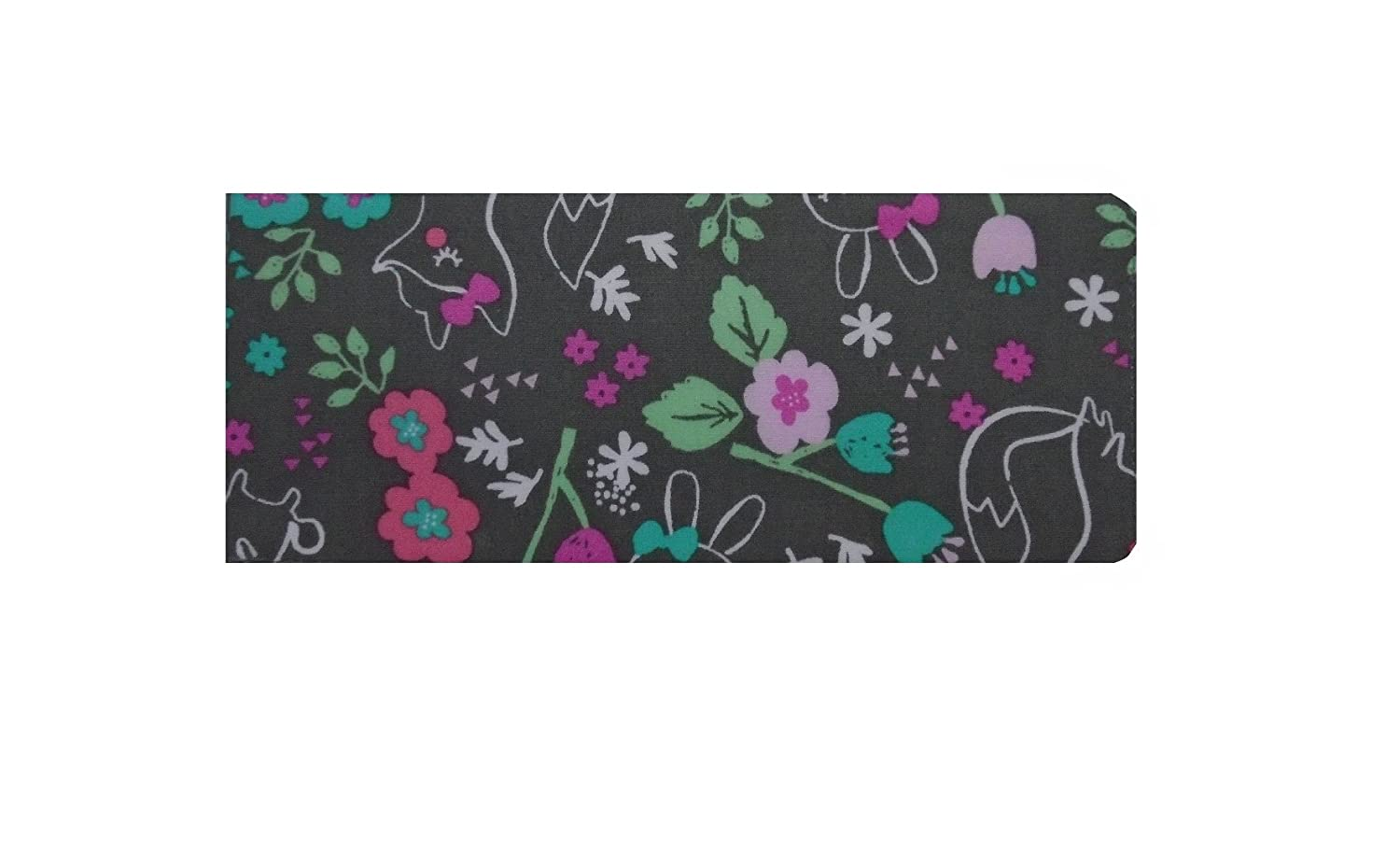 Woodland Walk Foxes and Bunnies Print Chequebook Wallet - Cotton Finish MPLCB038