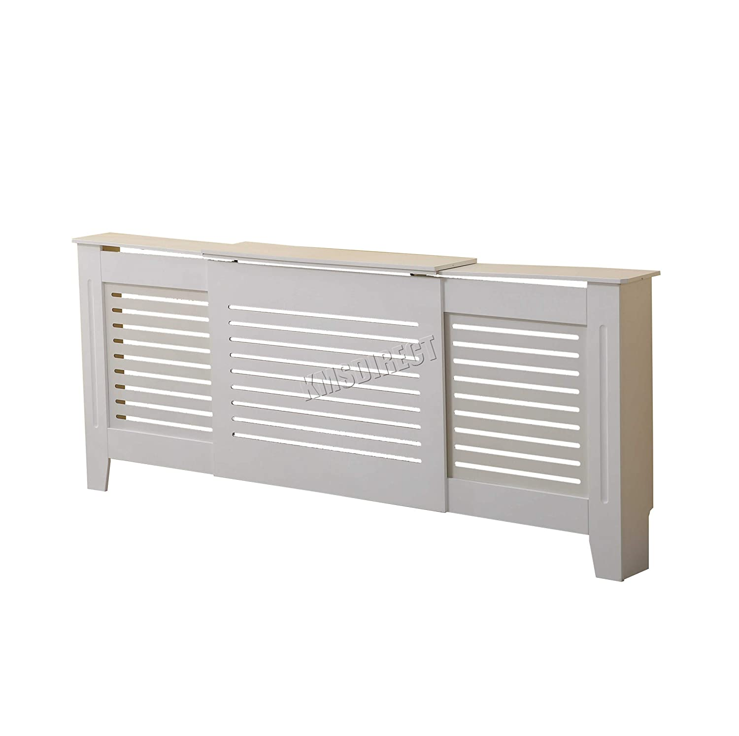WestWood White Painted Radiator Cover Wall Cabinet Wood MDF Traditional Modern Adjustable KMS