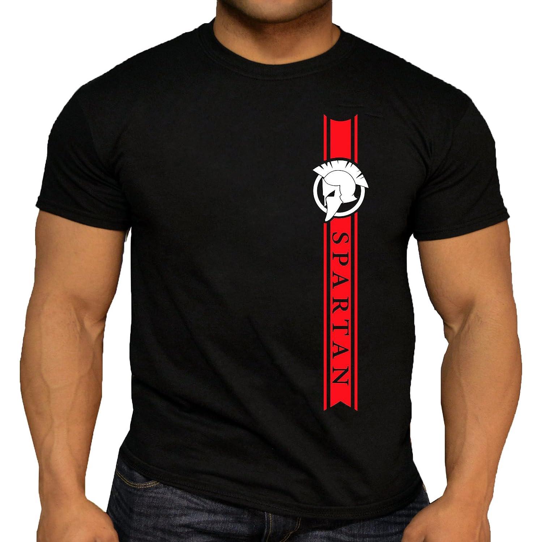 Quality Men's Pro Design Spartan T-Shirt. Gym Training Workout. 5 Colour Options.